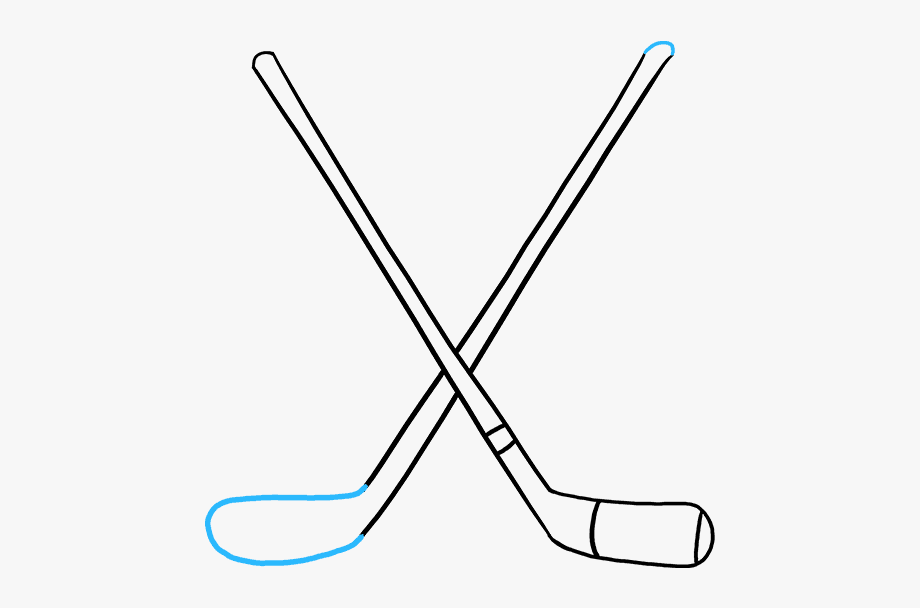 Clipart hockey sticks clip freeuse library How To Draw Hockey Sticks - Draw A Hockey Stick #332294 - Free ... clip freeuse library