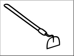 Clipart hoe jpg transparent Clip Art: Basic Words: Hoe B&W Unlabeled I abcteach.com | abcteach jpg transparent