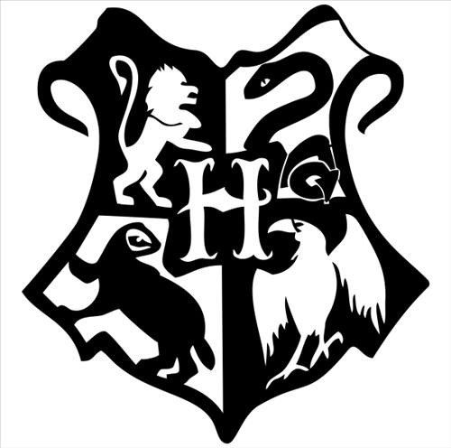 Clipart hogwarts h stamp logo outline transparent Wizard School Crest Inspired Vinyl Decal | Cricut | Harry potter ... transparent