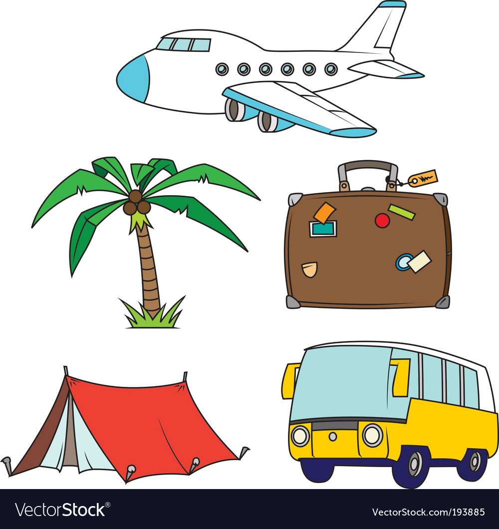 Travel clipart images svg download Holidays and travel clipart set svg download
