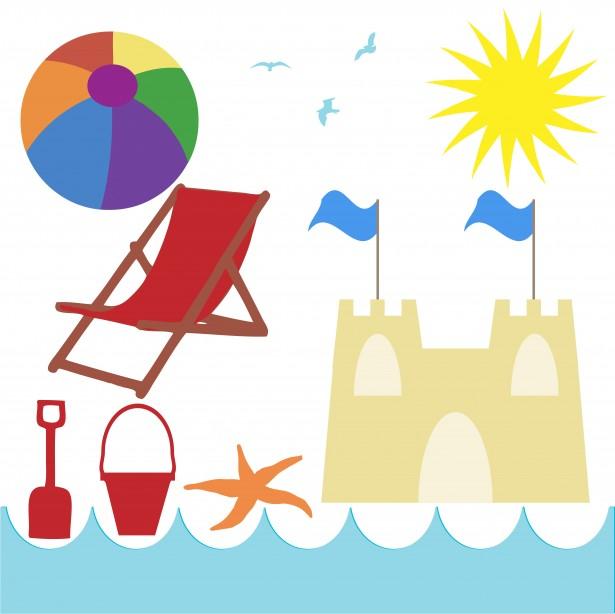 Beach holiday stock photo. Free seaside clipart