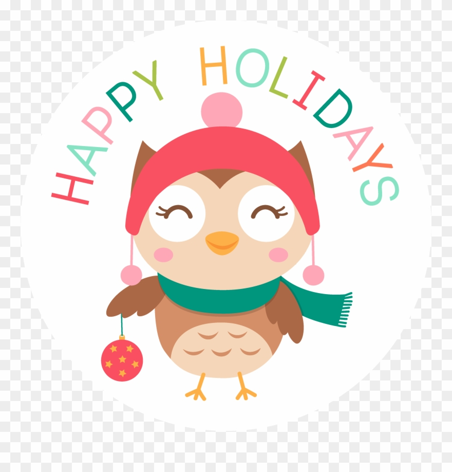 Hokiday clipart clipart free Happy Holidays Christmas Owl - Holiday Clipart (#1294865) - PinClipart clipart free