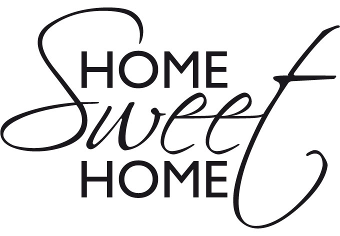Clipart home sweet home. Black and white kid