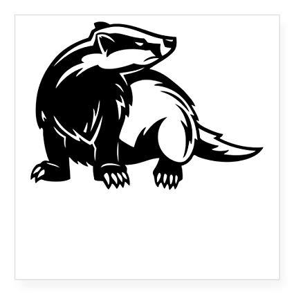 Clipart honey badger free library CafePress Honey Badger Sticker Square Bumper Sticker Car Decal, 3\