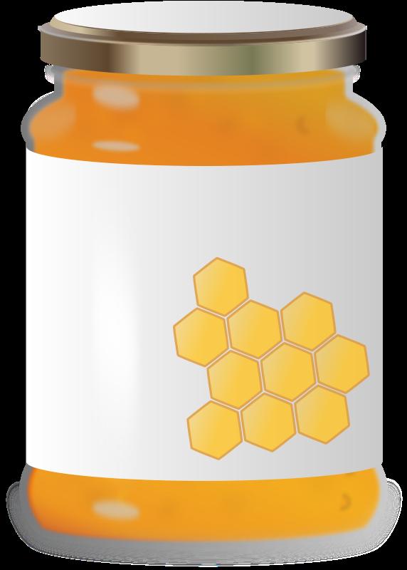 Clipart honey jar clip art transparent stock Free Clipart: Honey Jar | PrinterKiller clip art transparent stock