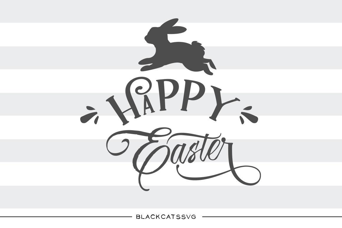 Hoppy bunny clipart banner transparent Happy Easter SVG Hoppy Easter bunny svg file Cutting File Clipart in ... banner transparent