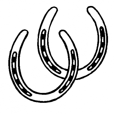 Clipart horse shoe vector black and white library Horseshoe Clip Art #39512 | Wood Burning / Wood Crafts | Horseshoe ... vector black and white library