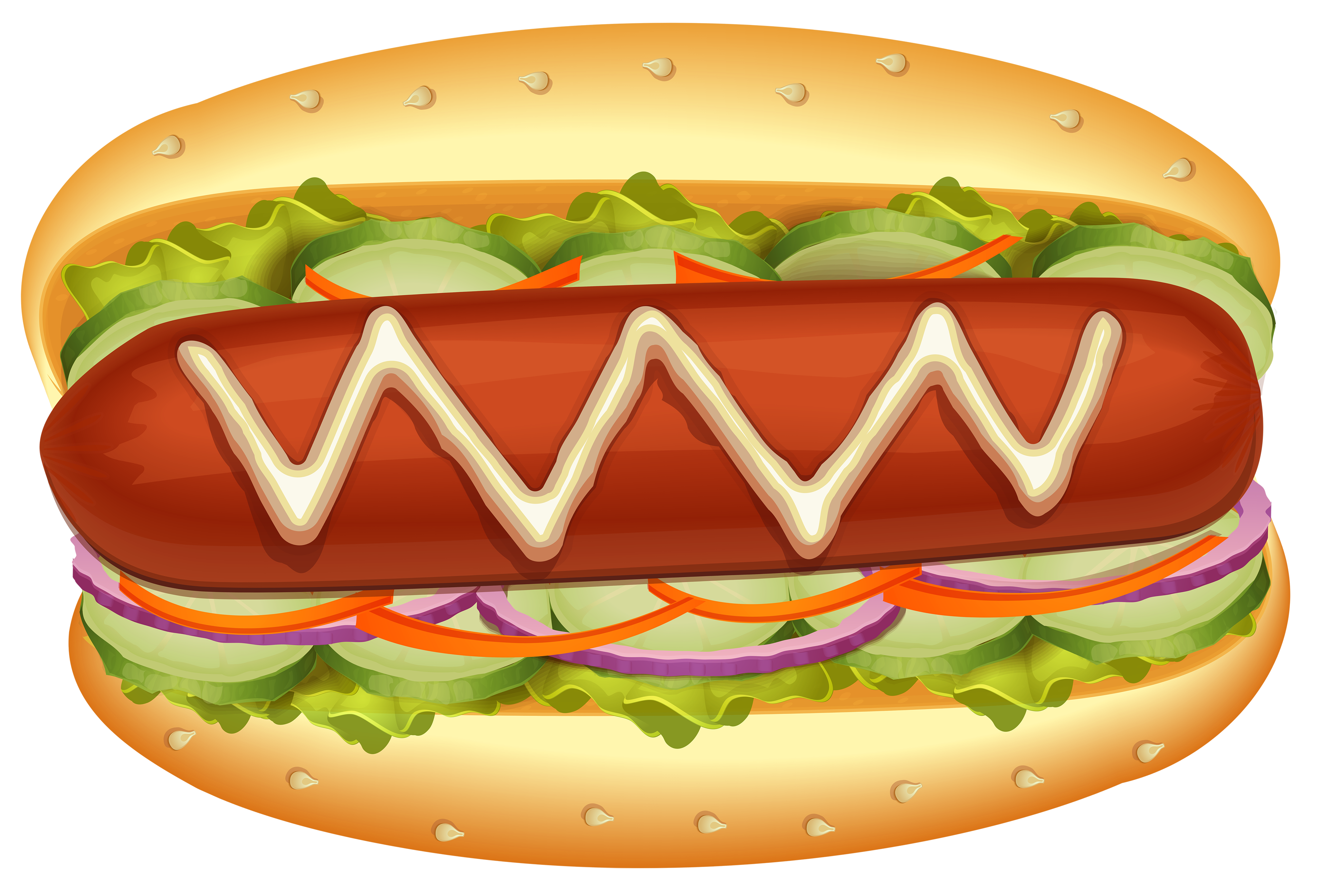 Clipart hot dog clip art royalty free Hot Dog with Salad PNG Clipart - Best WEB Clipart clip art royalty free