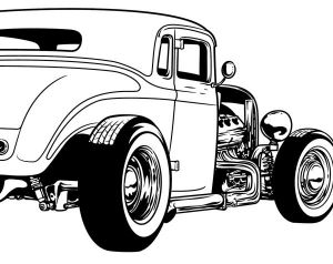 Hotrod clipart svg black and white stock Free Clipart Hot Rod Cars | Vector Magz | Free Download Vector ... svg black and white stock