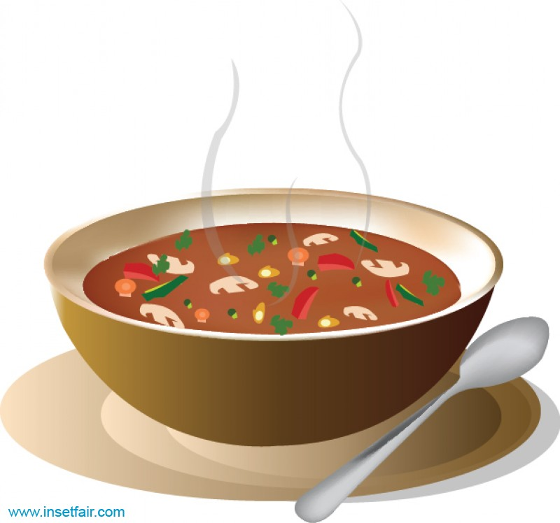Clipart hot soup black and white library Hot sour soup black and white library