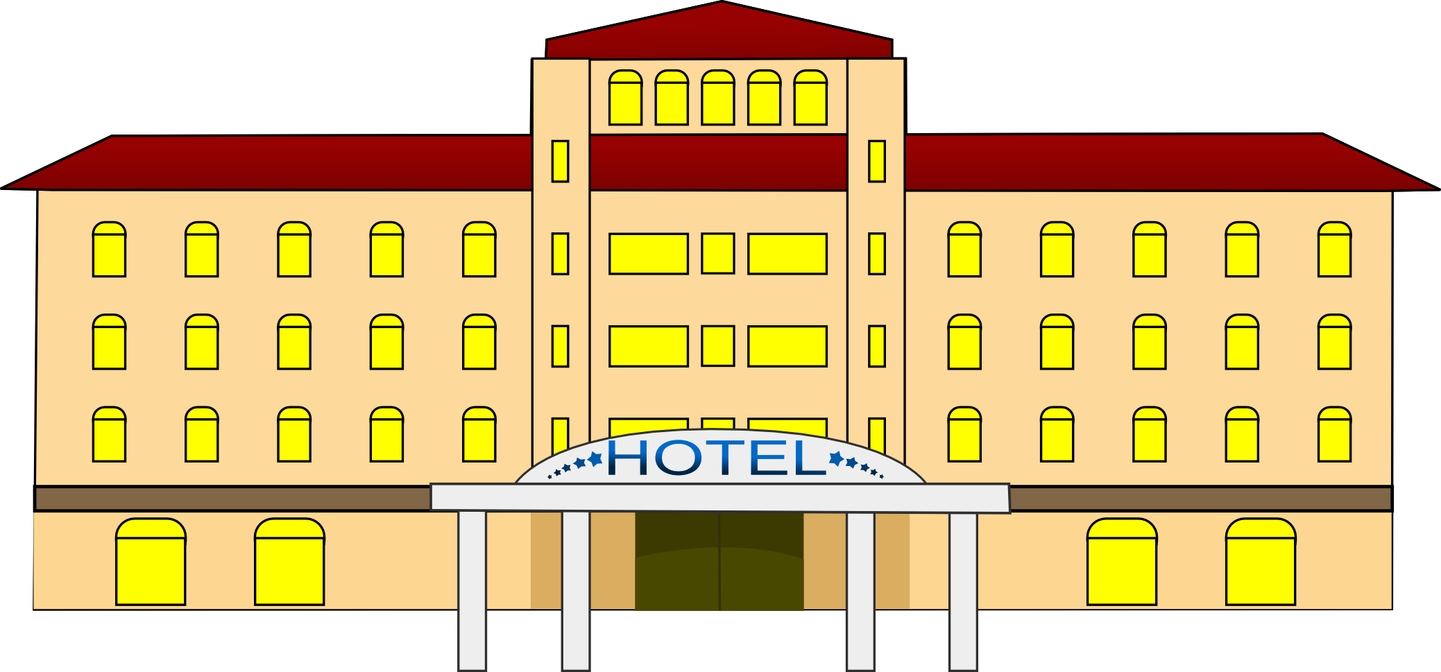 Clip art images panda. Free clipart hotel