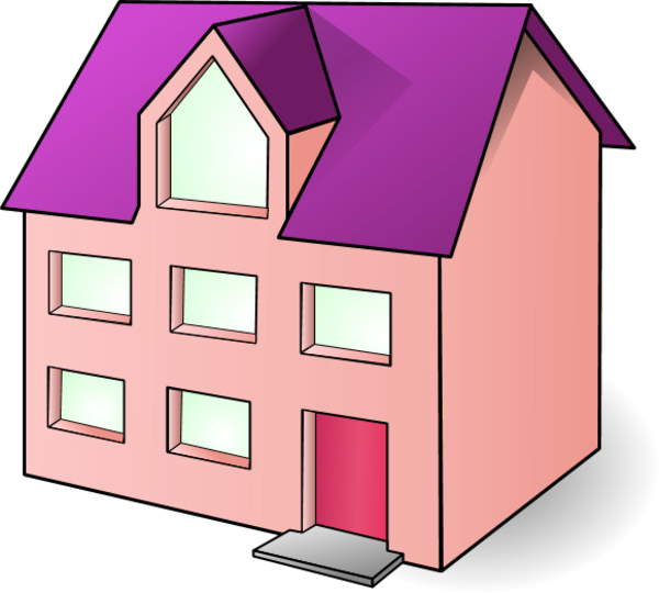 Clipart house construction image free library Residence clipart - Clipground image free library