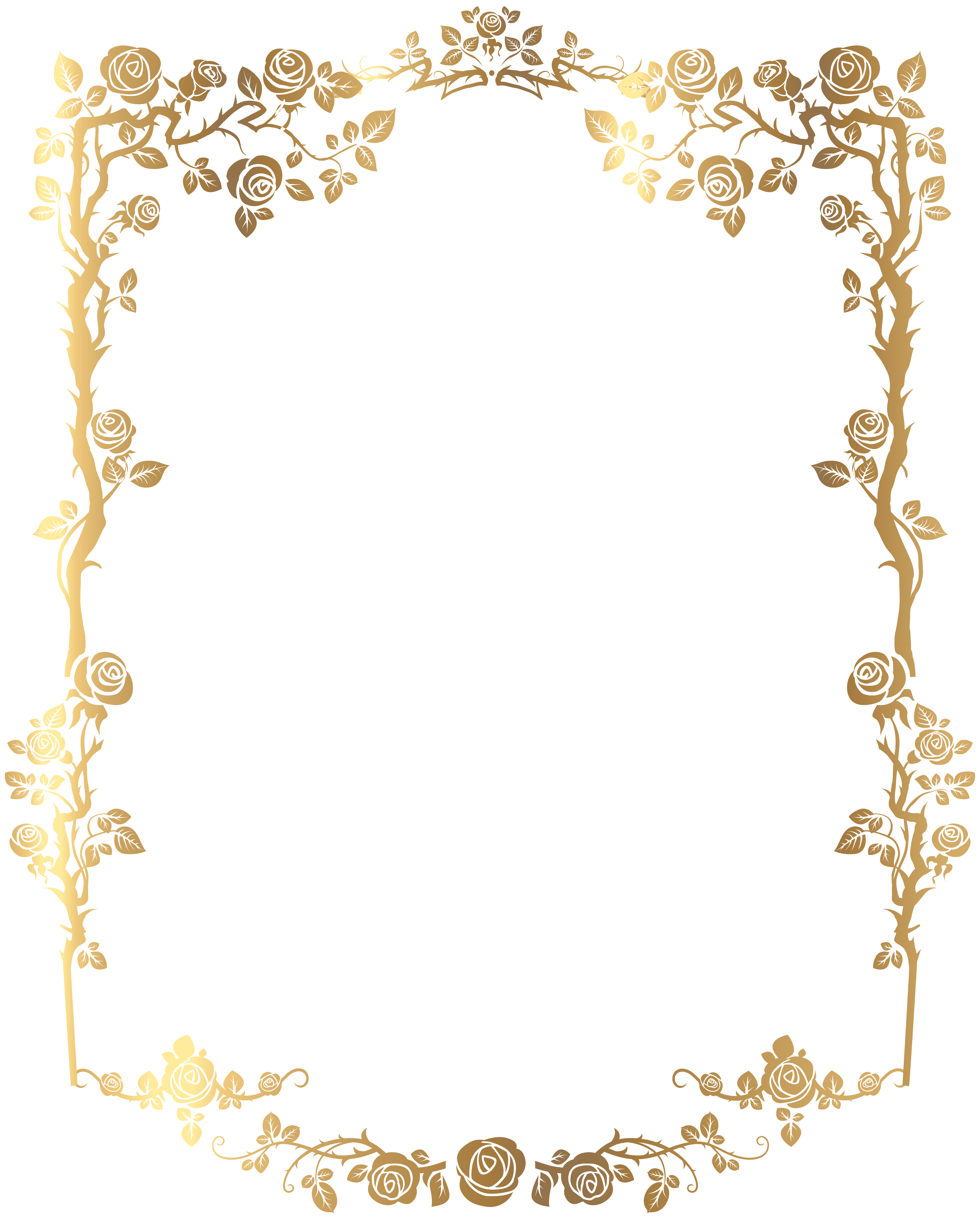 Frame clipart house picture on it clipart download Decorative Rose Frame PNG Clip Art Image | B&F-Goldy | Pinterest ... clipart download