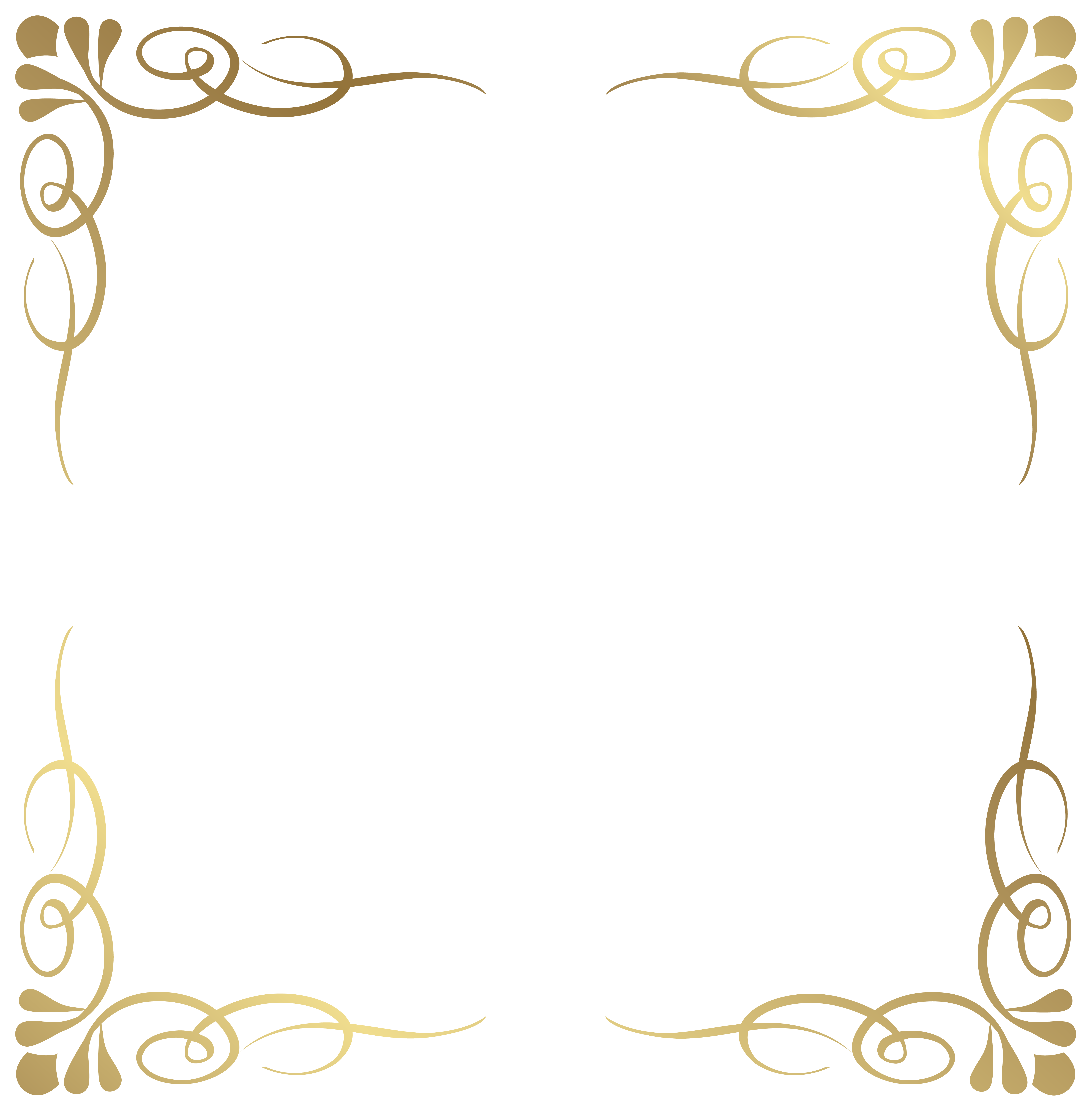 Fancy crown border clipart clip Transparent Decorative Frame Border PNG Image | Gallery ... clip