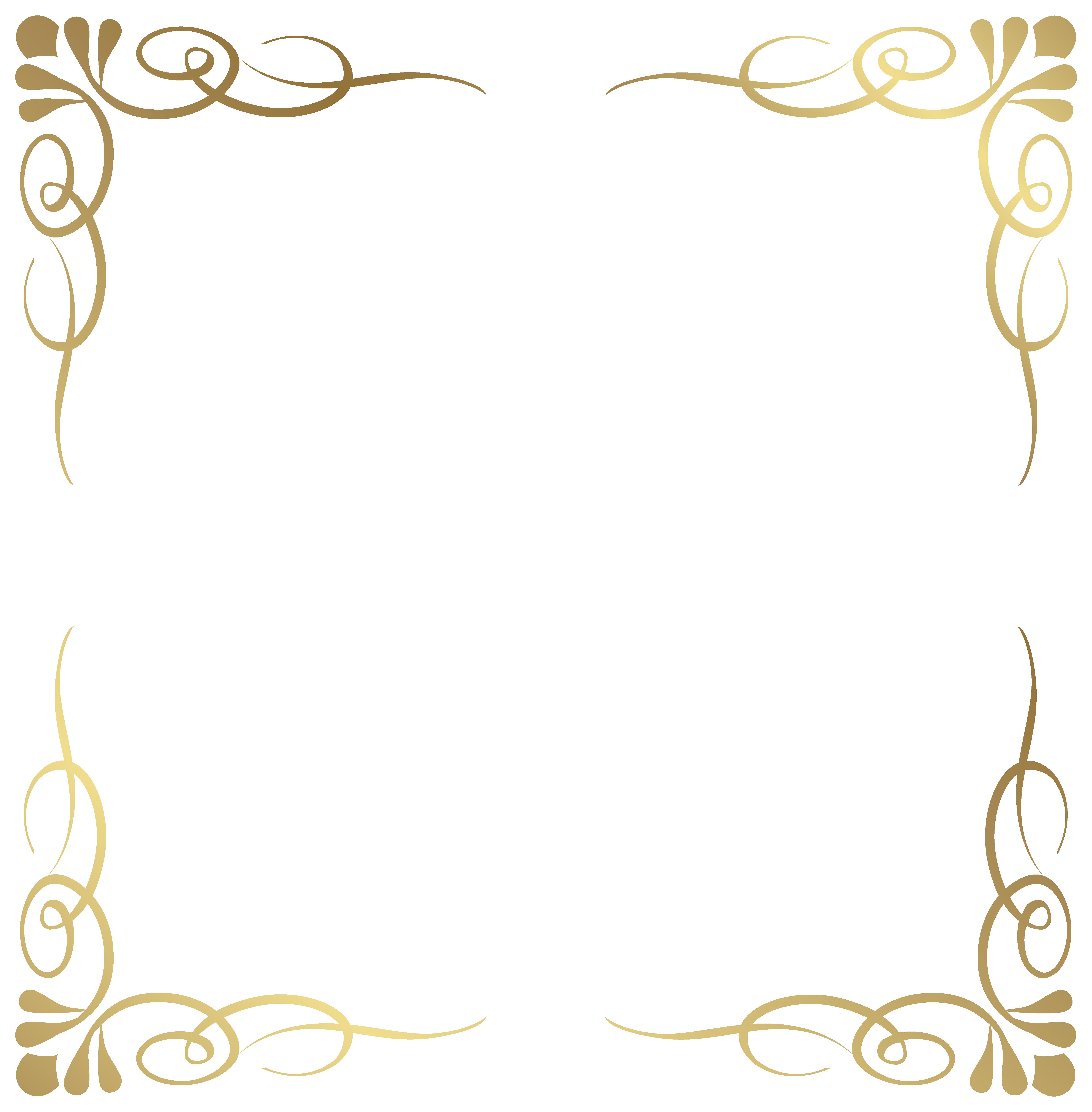 Elegant crown boarder clipart banner Transparent Decorative Frame Border PNG Image | Gallery ... banner