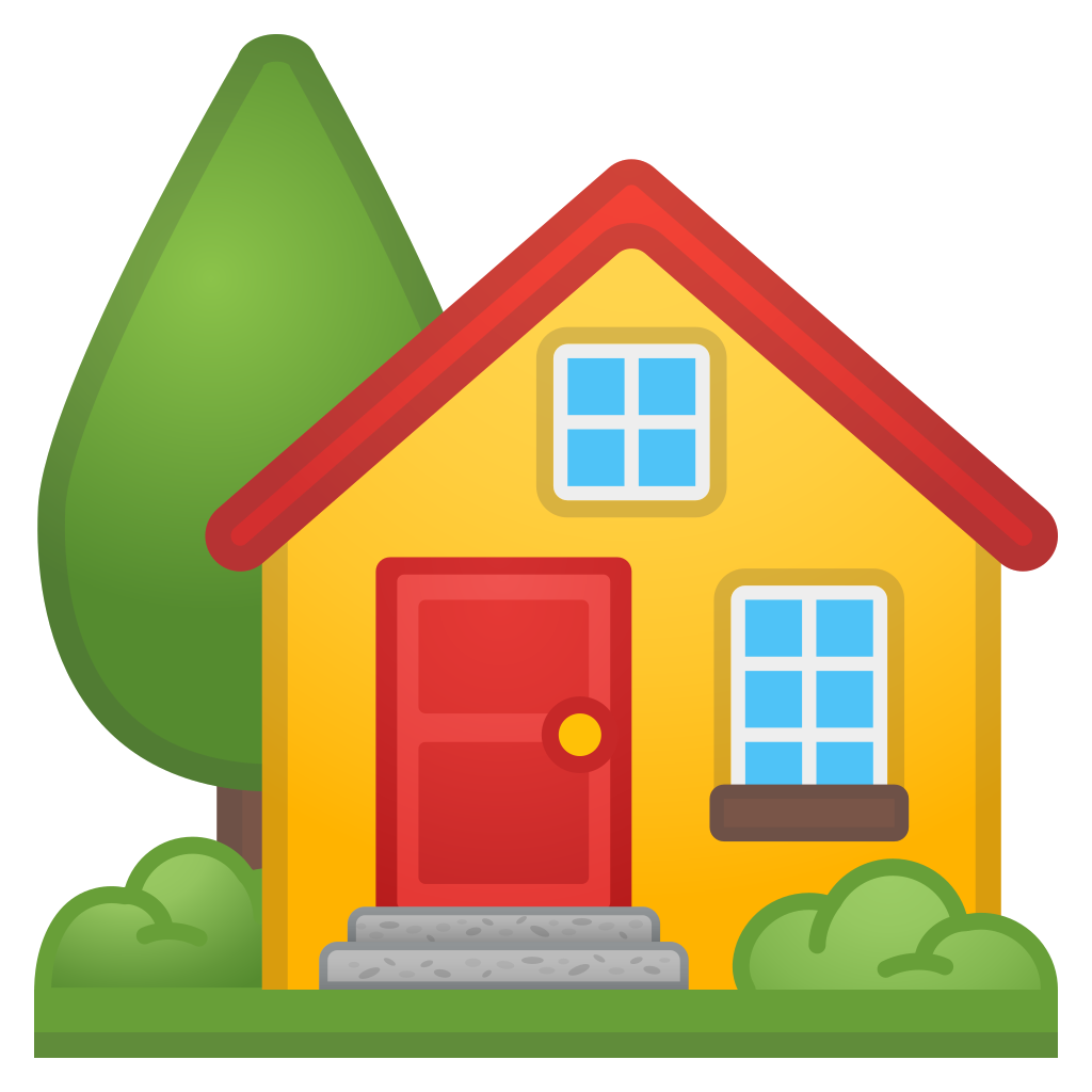 House with garden Icon | Noto Emoji Travel & Places Iconset | Google vector library stock