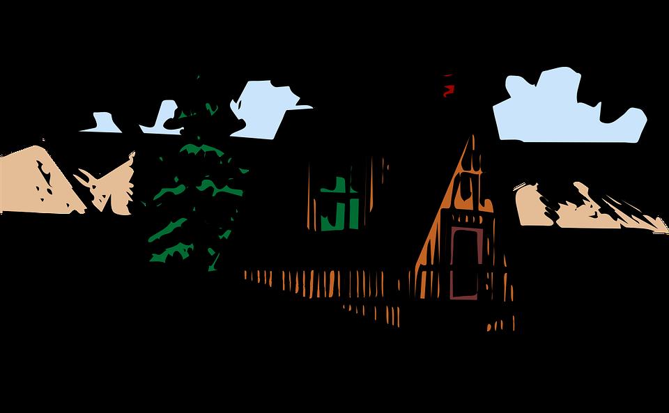 Clipart house mountain jpg transparent stock Mountain home clipart - Clipground jpg transparent stock