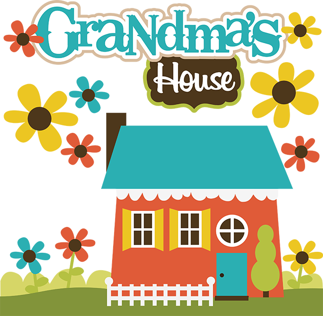 Clipart house on hill clip art freeuse Grandma's House SVG Collection svg files for scrapbooking grandma's ... clip art freeuse