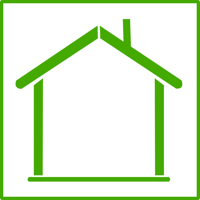 Outline of a house clipart clipart transparent Clipart - eco green house icon clipart transparent