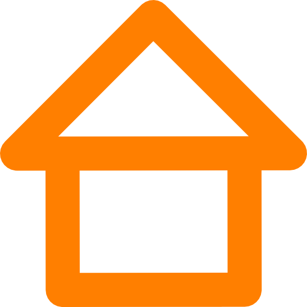 House outline clipart free banner library download Orange House Outline Clip Art at Clker.com - vector clip art online ... banner library download