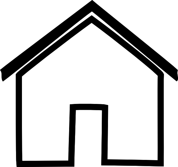 Outline of a house clipart picture free Clipart Inside House Outline Collection | Art of Ideas picture free