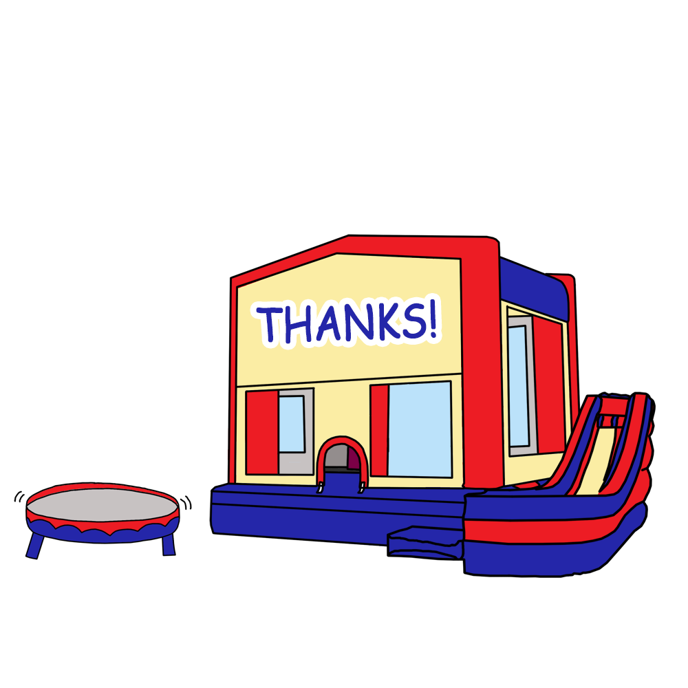 House party clipart picture library download Kids Bounce House Party Fill In Thank You Notes – Mandys Moon ... picture library download