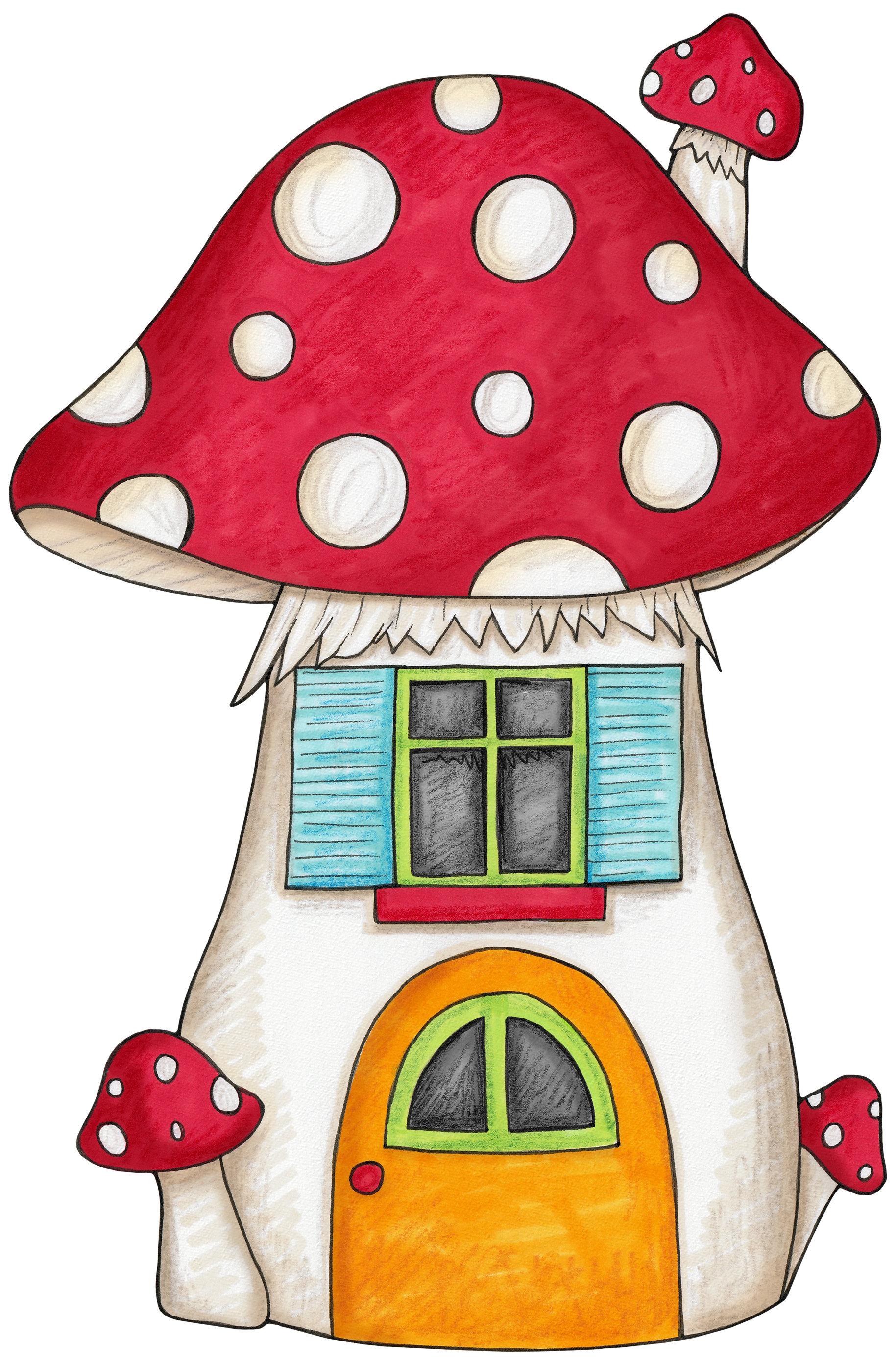 Things in the house clipart banner royalty free stock Mushroom house for an enchanted forest woodland themed party ... banner royalty free stock