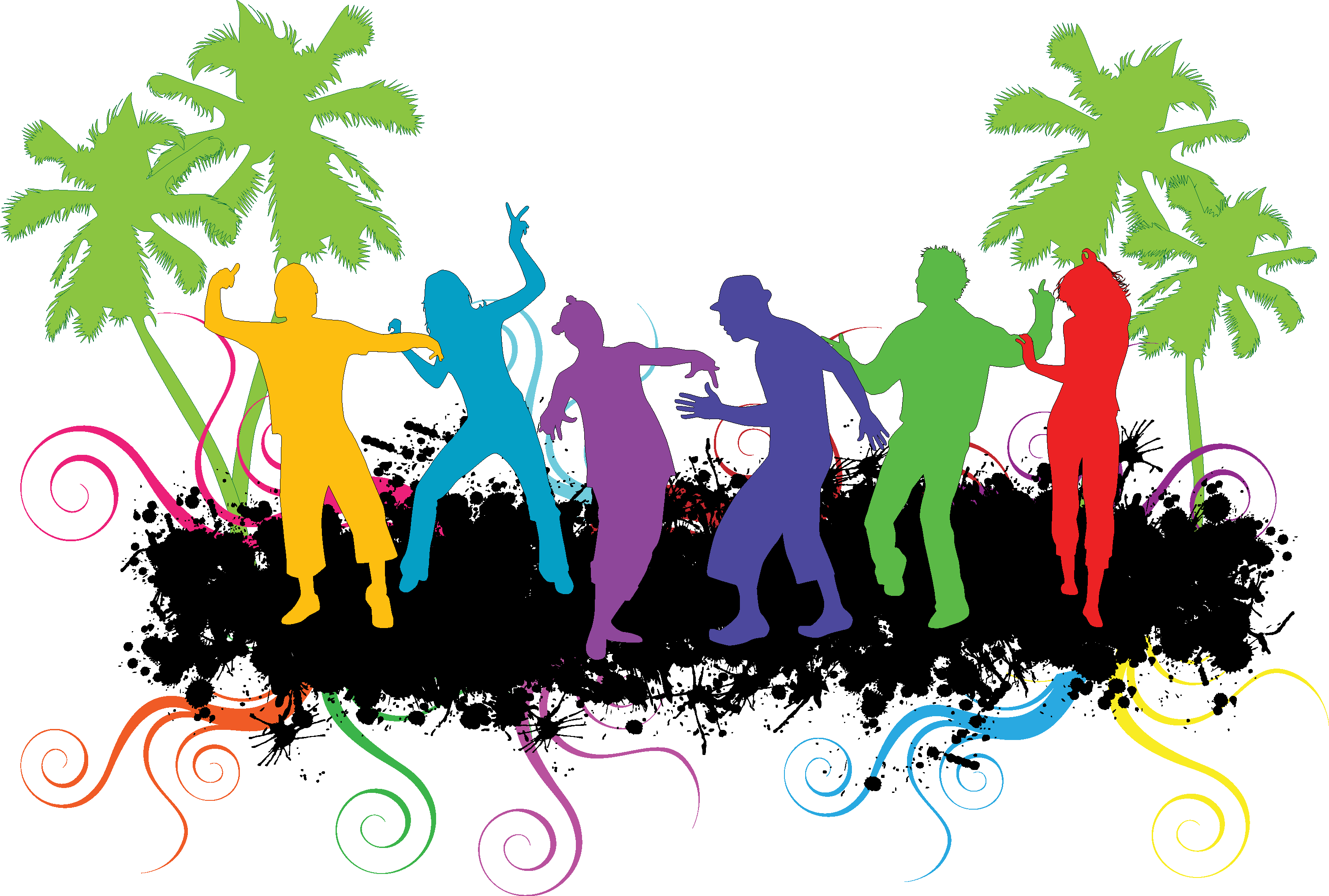 Clipart house party clip art transparent stock Party People Silhouette at GetDrawings.com   Free for personal use ... clip art transparent stock