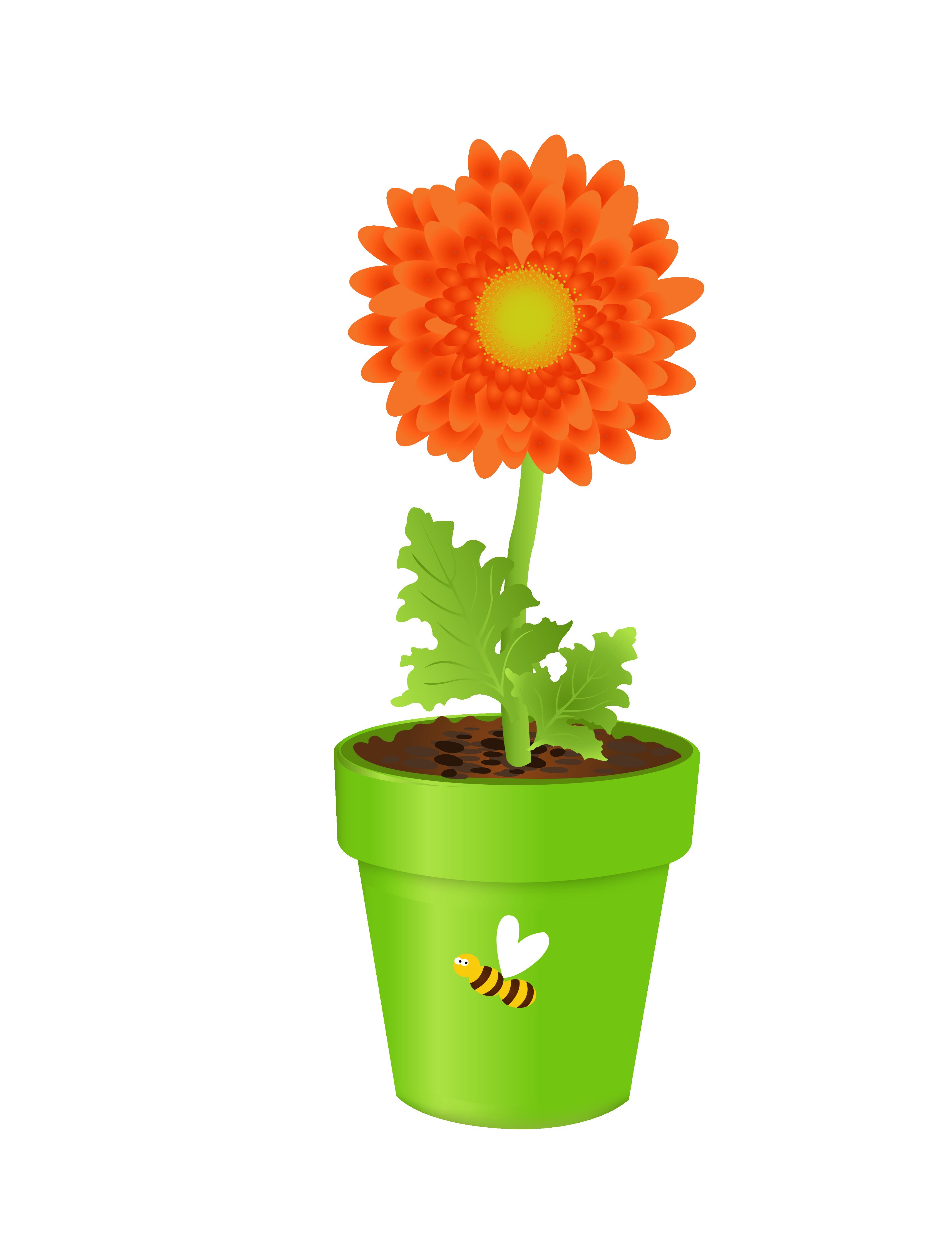 Flower in vase clipart jpg library Flowerpot Vase Clip art - Sunflower 3425*4490 transprent Png Free ... jpg library
