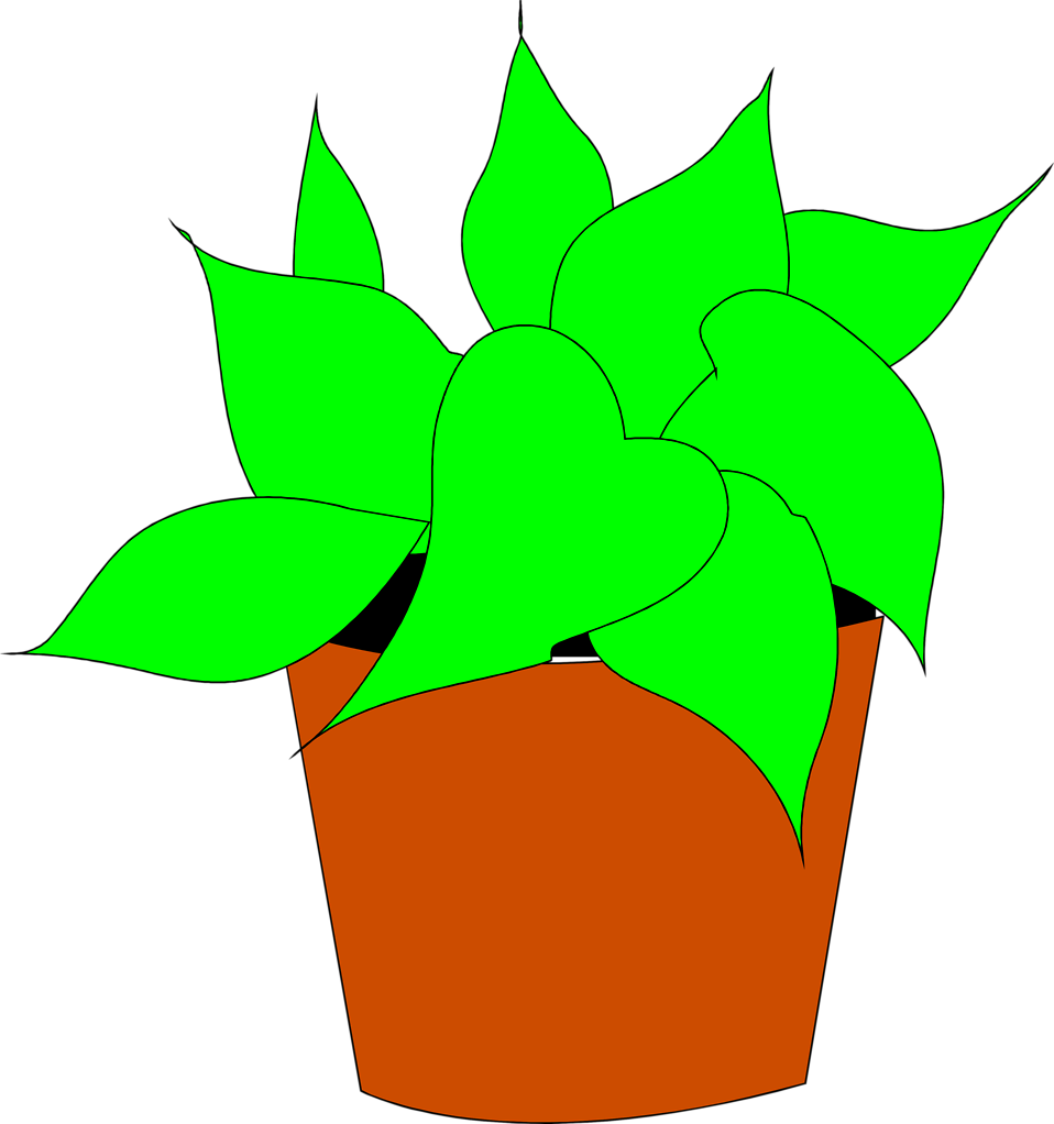 Plants | Free Stock Photo | Illustration of a potted house plant ... jpg freeuse stock