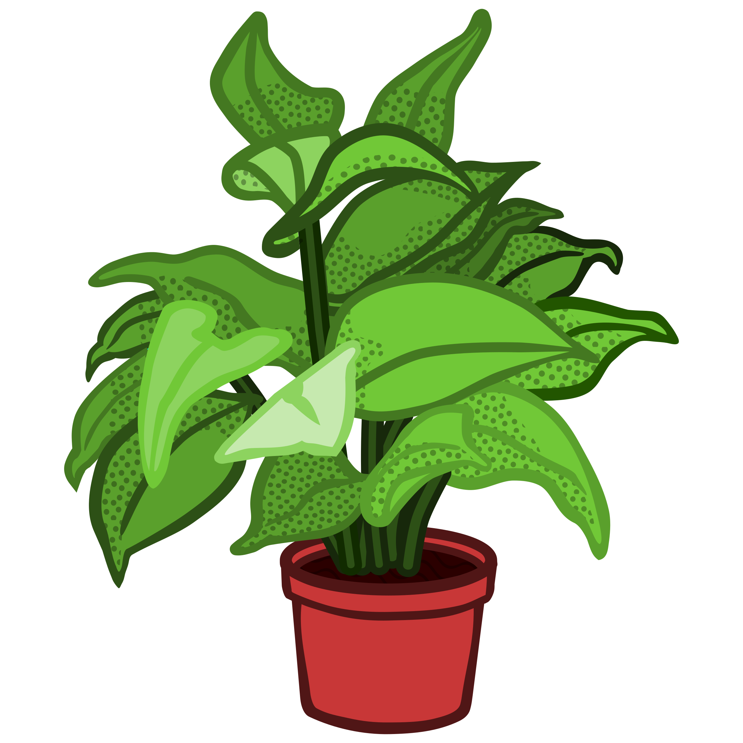 House plant clipart clip free download Clipart - potted plant - coloured clip free download