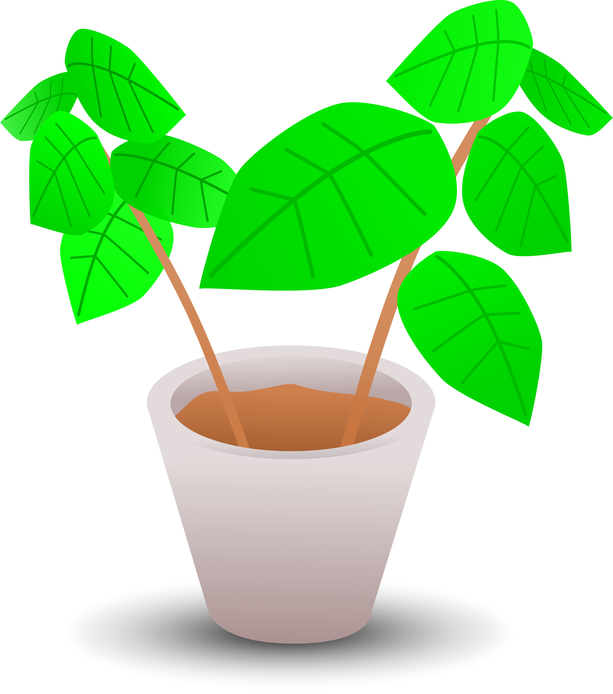 House plant clipart banner transparent stock Clipart - Plant in a pot 2 banner transparent stock