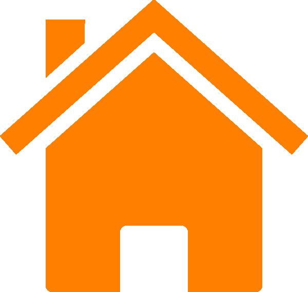 House png clipart jpg freeuse stock Simple Orange House Clip Art at Clker.com - vector clip art online ... jpg freeuse stock