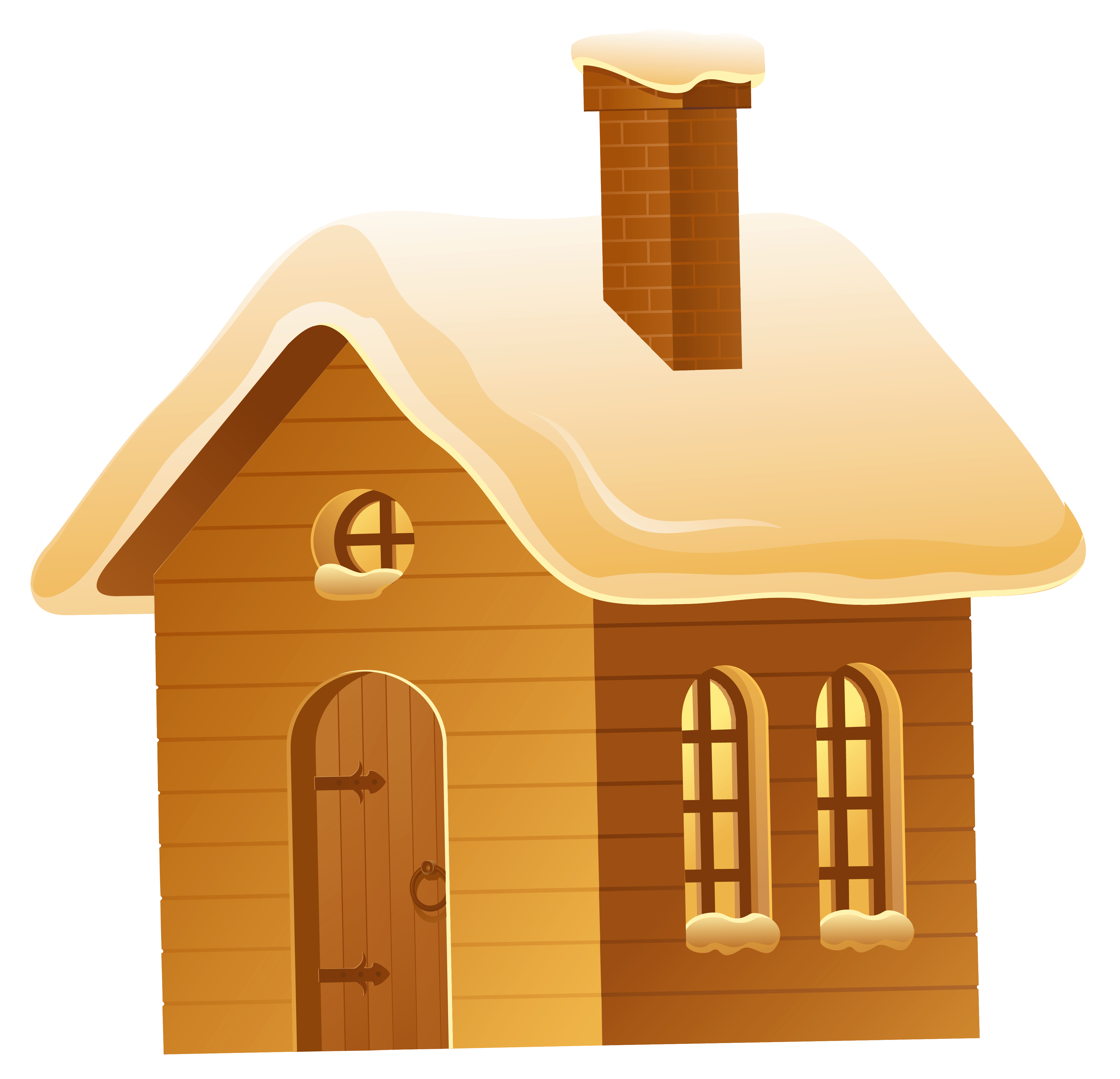Free clipart image of a house royalty free download Winter Brown House PNG Picture | Gallery Yopriceville - High ... royalty free download