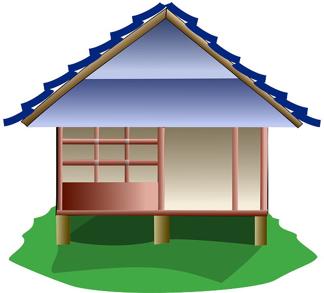 Clipart house roof graphic transparent library Stilt buildings clipart - Clipground graphic transparent library