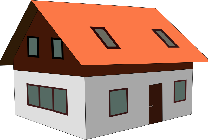 28+ Collection of Sloping Roof House Clipart | High quality, free ... freeuse library