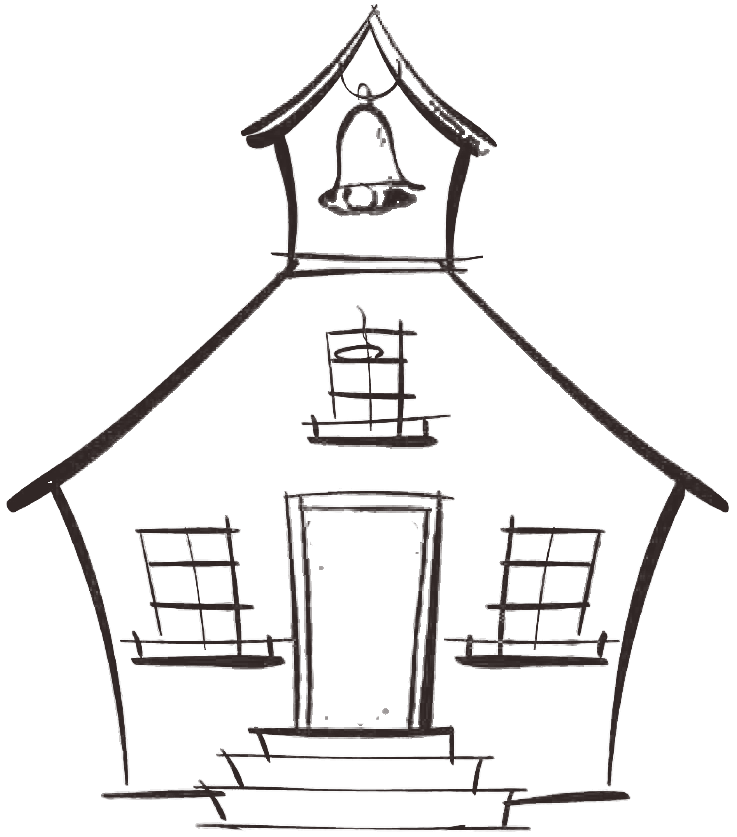 House sketch clipart svg library library 28+ Collection of Drawing Of Old School House | High quality, free ... svg library library