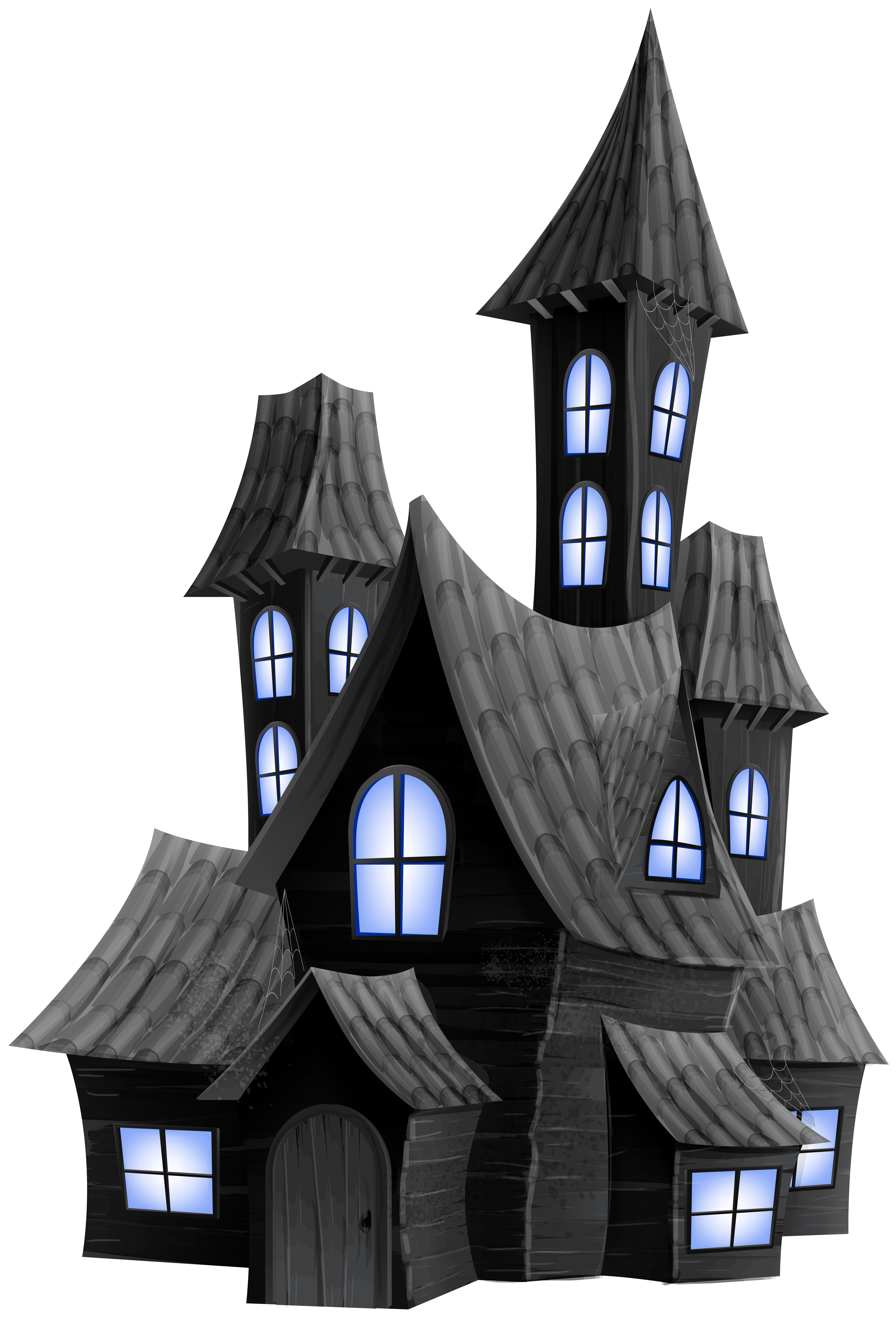 Transparent clipart house banner freeuse Halloween Scary House Transparent PNG Image | Gallery Yopriceville ... banner freeuse
