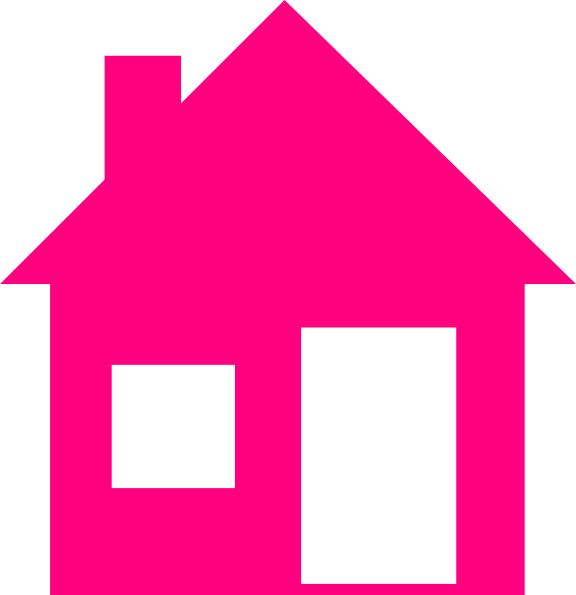 House vector clipart jpg black and white stock Pink House Clip Art at Clker.com - vector clip art online, royalty ... jpg black and white stock