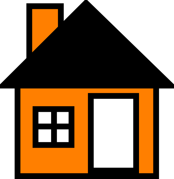 House vector clipart png transparent stock Orange House The Clip Art at Clker.com - vector clip art online ... png transparent stock