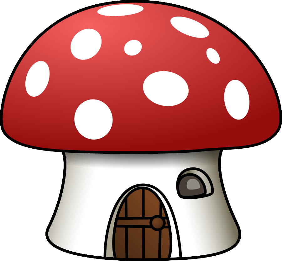 House vector clipart jpg freeuse library Mushroom House Clipart, vector clip art online, royalty free ... jpg freeuse library