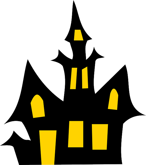 Halloween camping clipart svg free haunted-house-150446_640.png (567×640) | Figuur zagen | Pinterest ... svg free