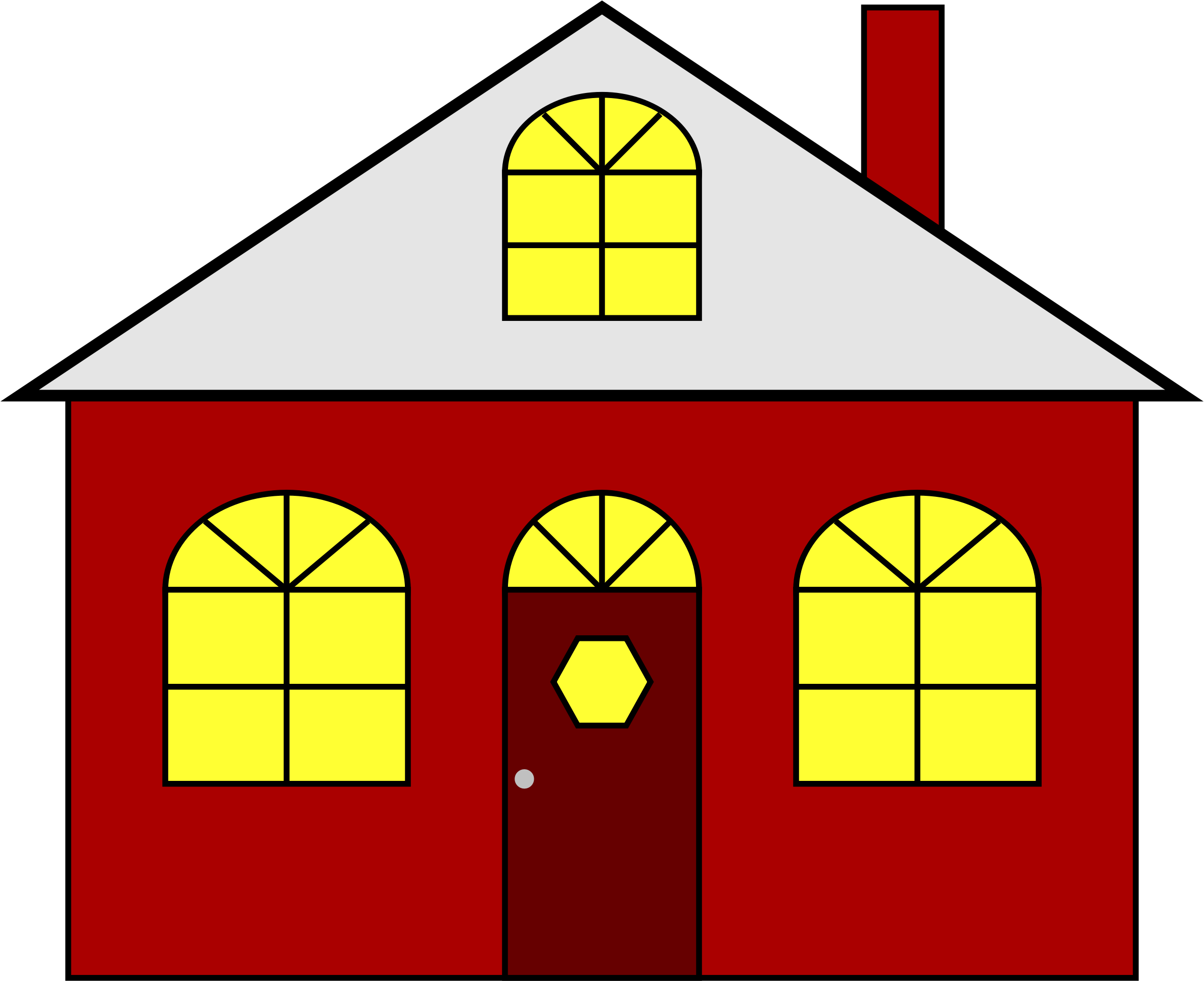 House shape clipart free download Clipart - Lighted House free download