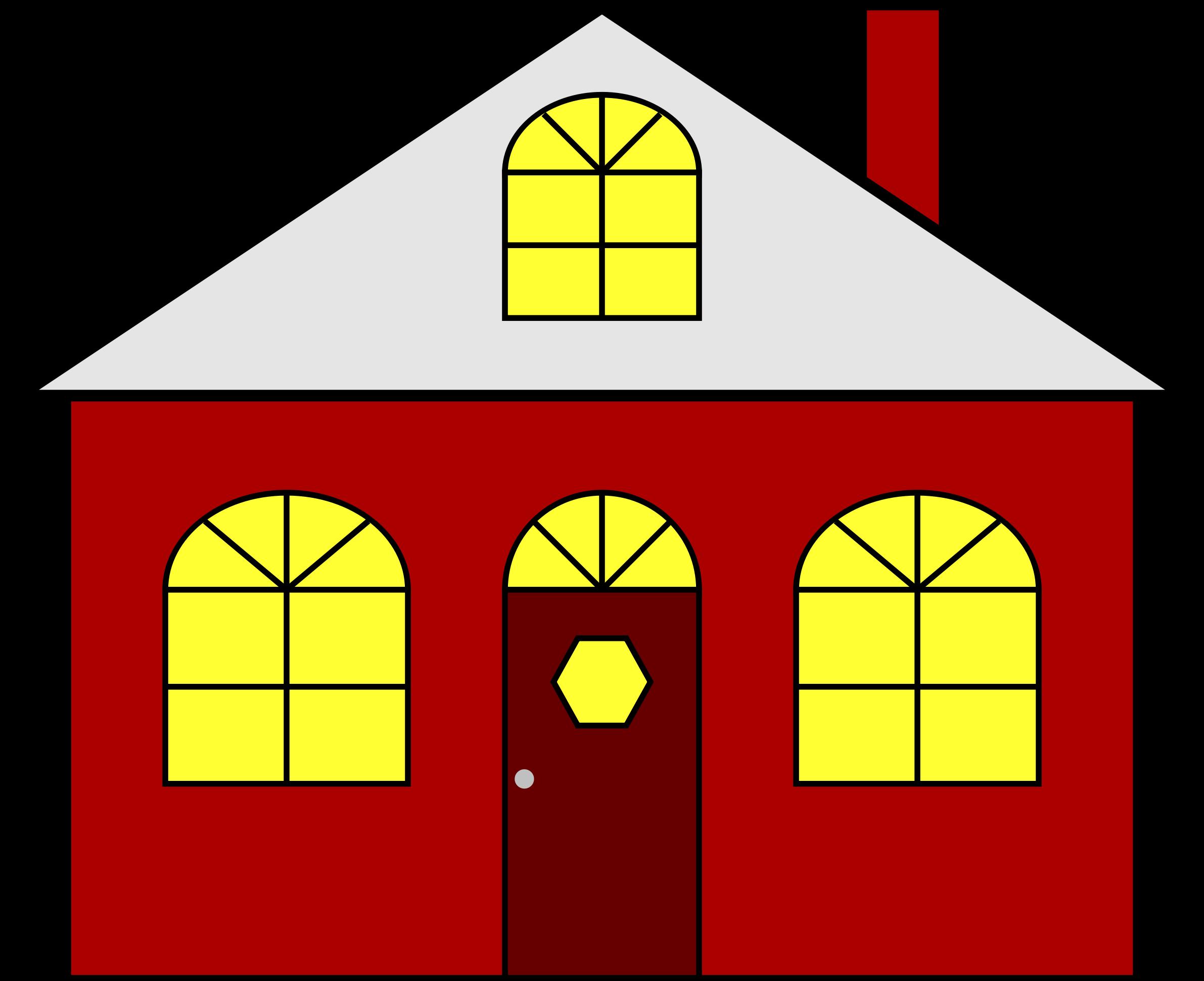 Clipart house window jpg free Clipart - Lighted House jpg free
