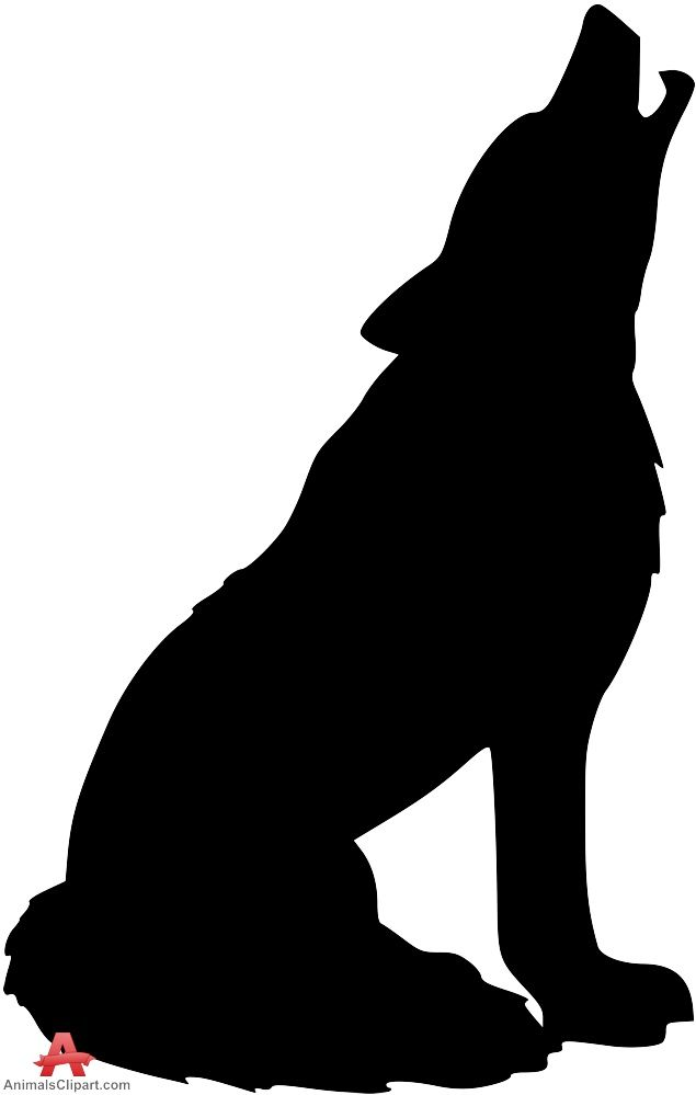 Wolf silhouette clipart graphic black and white Howling Wolf Silhouette Clipart   Free Clipart Design Download ... graphic black and white