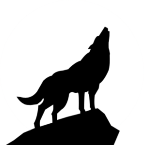 Clipart howling wolf clipart black and white stock Howling Wolf Silhouette Psd   Free Images at Clker.com - vector clip ... clipart black and white stock