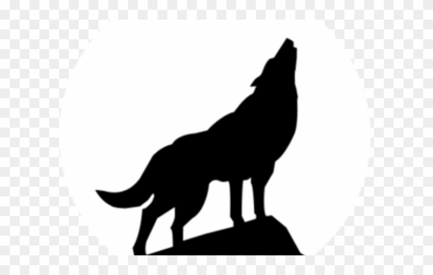 Wolf howling clipart banner freeuse stock Howling Wolf Clipart - Wolf Howling Silhouette - Png Download ... banner freeuse stock