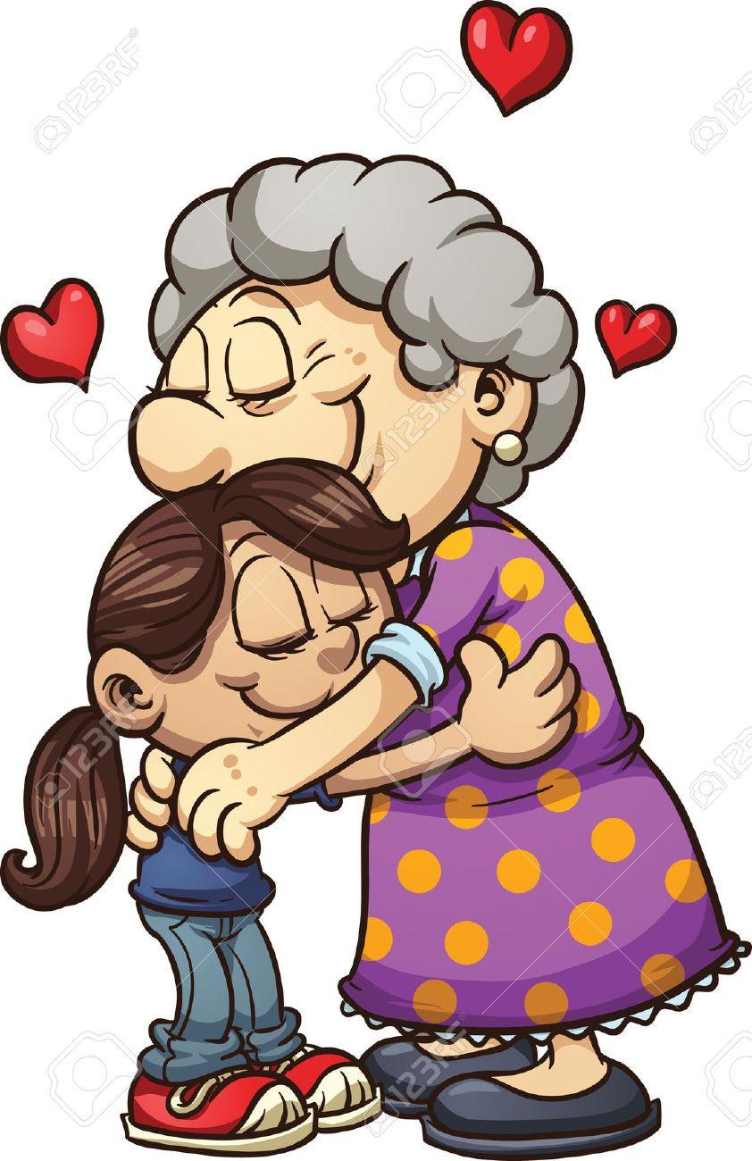 Clipart huging image royalty free Hugging Her A Grandma Granddaughter Clipart #1 | Ideas | Hug ... image royalty free