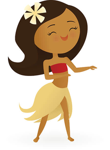 Free hula girl clipart banner download Animated Hula Girl Clipart | Free Images at Clker.com - vector clip ... banner download