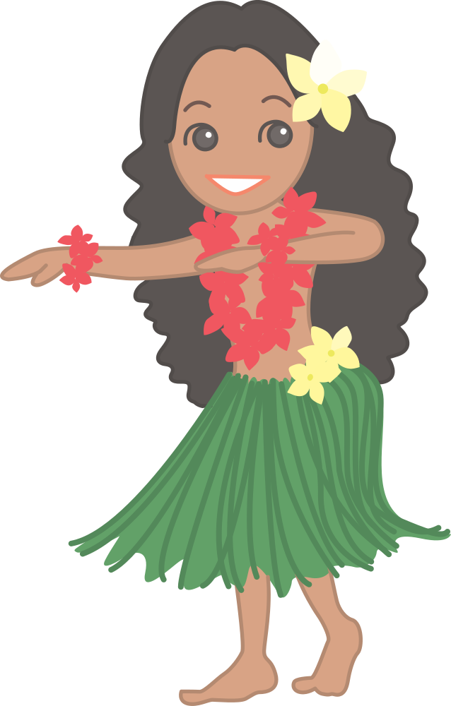 Clipart hula dancer jpg black and white OnlineLabels Clip Art - Hula Dancer (#1) jpg black and white